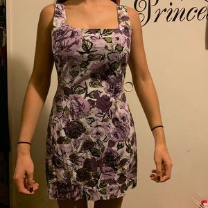 Flowery Le Belle fitted dress